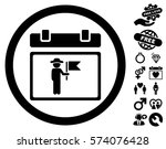 national holiday day pictograph ... | Shutterstock .eps vector #574076428