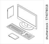 vector illustration. set of... | Shutterstock .eps vector #574078018