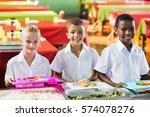 portrait of school kids having... | Shutterstock . vector #574078276