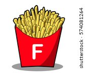 french fries | Shutterstock .eps vector #574081264