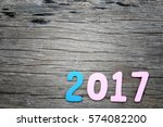 number two thousand seven of... | Shutterstock . vector #574082200