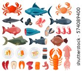 sea food vector illustration. | Shutterstock .eps vector #574089400