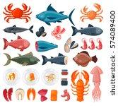 sea food vector illustration.   Shutterstock .eps vector #574089400