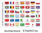 collection of set national flag | Shutterstock .eps vector #574094716