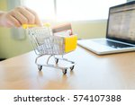 business theme internet online...   Shutterstock . vector #574107388