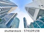 modern office buildings ... | Shutterstock . vector #574109158