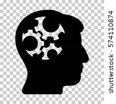 black mind gears toolbar icon.... | Shutterstock .eps vector #574110874