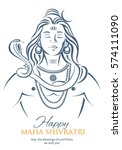 lord shiva in meditation.... | Shutterstock .eps vector #574111090