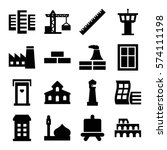 set of 16 architecture filled... | Shutterstock .eps vector #574111198
