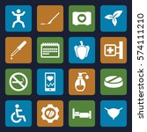 set of 16 health filled icons... | Shutterstock .eps vector #574111210