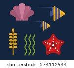 sea animals marine life...   Shutterstock .eps vector #574112944