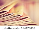 close up edge of colorful... | Shutterstock . vector #574120858