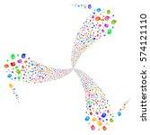 intellect gears fireworks swirl ... | Shutterstock .eps vector #574121110