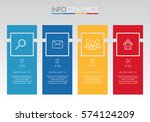 info graphic template for... | Shutterstock .eps vector #574124209