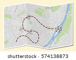 city map with route guidance | Shutterstock .eps vector #574138873