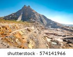 opencast mining quarry with... | Shutterstock . vector #574141966