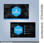 blue and black modern business...   Shutterstock .eps vector #574143184