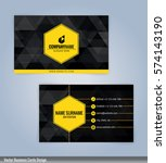 yellow and black modern... | Shutterstock .eps vector #574143190