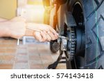 cropped of automobile mechanic... | Shutterstock . vector #574143418