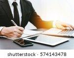 business concept  businessman... | Shutterstock . vector #574143478