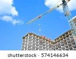 Crane Lifting Concrete Mixer...