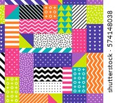 neon colors geometric seamless... | Shutterstock .eps vector #574148038