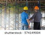 construction concepts  engineer ...   Shutterstock . vector #574149004