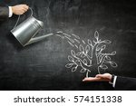 invest right to get income .... | Shutterstock . vector #574151338