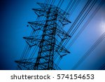 sky with power pole | Shutterstock . vector #574154653