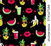 tropic seamless pattern with... | Shutterstock .eps vector #574167184