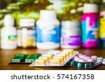 drug prescription for treatment ... | Shutterstock . vector #574167358