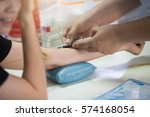 collection blood in lab for... | Shutterstock . vector #574168054