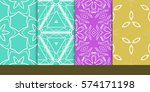 set of decorative floral... | Shutterstock .eps vector #574171198