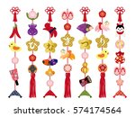 display dolls for the doll s... | Shutterstock .eps vector #574174564