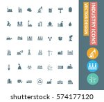 industry icon set clean vector | Shutterstock .eps vector #574177120