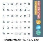 industry icon set clean vector | Shutterstock .eps vector #574177120