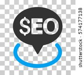 seo geotargeting icon. vector... | Shutterstock .eps vector #574177138