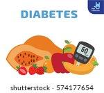 food for diabetics consisting...   Shutterstock .eps vector #574177654