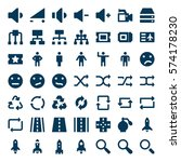 font icons 6 | Shutterstock .eps vector #574178230