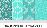 set of decorative floral... | Shutterstock .eps vector #574180654