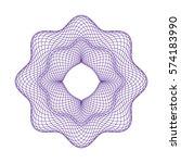 vector decorative rosette for... | Shutterstock .eps vector #574183990