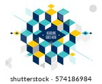 vector of abstract geometric... | Shutterstock .eps vector #574186984