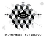 vector of abstract geometric... | Shutterstock .eps vector #574186990