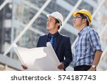 architect  engineer  project... | Shutterstock . vector #574187743