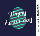happy easter egg vector flat... | Shutterstock .eps vector #574188076
