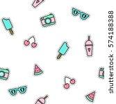 cute pins seamless pattern....   Shutterstock .eps vector #574188388