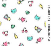 cute pins seamless pattern....