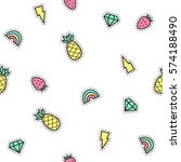 cute pins background. vector... | Shutterstock .eps vector #574188490