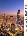 cityscape view of bangkok... | Shutterstock . vector #574191166