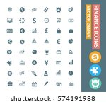 finance icon set clean vector | Shutterstock .eps vector #574191988